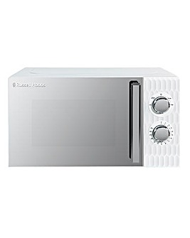 Russell Hobbs RHMM715W Textured Honeycomb Manual Microwave - White