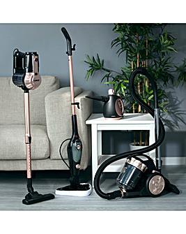 Tower Corded Stick Vac, Cylinder, Steam Mop and Handheld Steamer Bundle