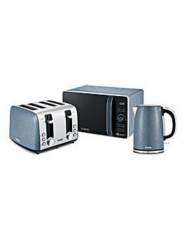Tower Ice Diamond Kettle, Toaster and Microwave Bundle
