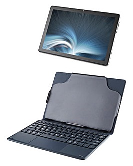 ENTITY Verso Pro 10.1in 2GB, 32GB Android 11 Tablet and Keyboard - Black Grey
