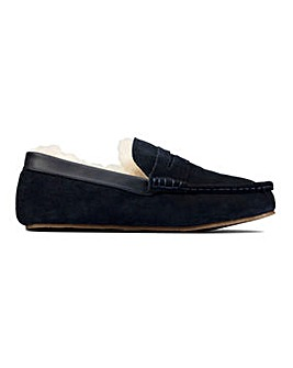 Clarks Kitewarm Suede Loafer Slippers
