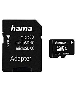 Hama microSDHC + SD Adapter Class 10