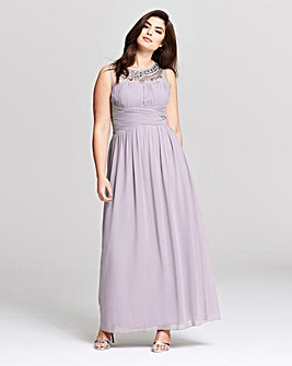 Little Mistress Chiffon Maxi Dress