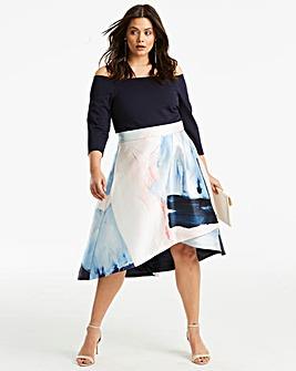 Coast Marni Chloi Bardot Printed Dress
