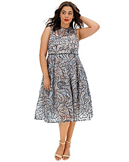 Coast Gina Embroided Midi Dress