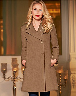 Helene Berman Fit & Flare Coat