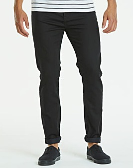 Slim Gaberdine Black Jeans 33 in