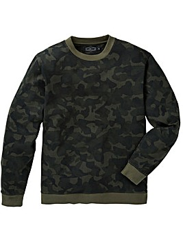 Label J Camo Print Crew Sweat Regular