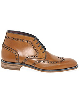 Loake Errington Mens Leather Brogue Boot