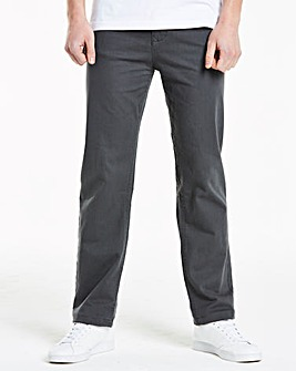 Slim Gaberdine Charcoal Jeans 27 in