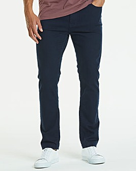 Slim Gaberdine Navy Jeans 27 in