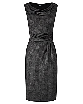 Grace Cowl Neck Metallic Midi Dress
