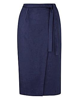 Lovedrobe Suedette Midi Skirt