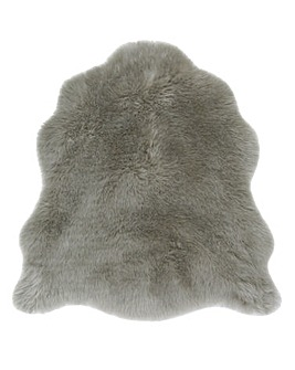 Faux Fur Shaggy Half Shaped Rug