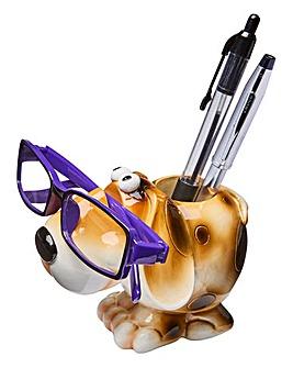 Dog Glasses and Pen Holder