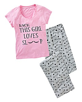 Personalised Love to Sleep Pyjamas
