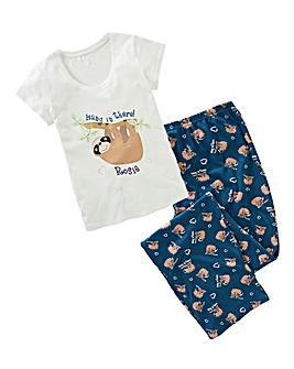 Personalised Sloth Pyjamas