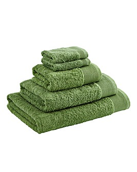 Egyptian Cotton Towel Range Leaf Green