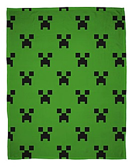 Minecraft Emerald Rotary Flannel Fleece