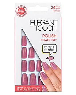 Elegant Touch Polished Core Nail Power Trip Dusky Rose