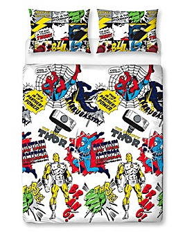 Marvel Comics Scribble Reversible Duvet