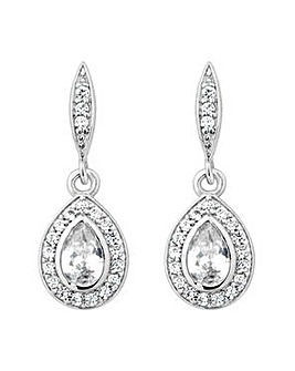 Jon Richard Silver Peardrop Drop Earring