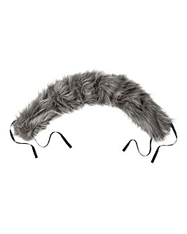 Universal Pushchair Faux Fur Hood