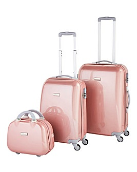3 Piece Rose Gold Luggage Set