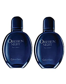 Calvin Klein Obsession Night Men 125ml EDT BOGOF