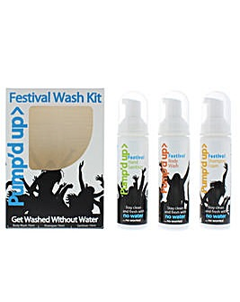 Pump'd Up Travel Kit - Body Wash Shampoo  Hand Sanitiser