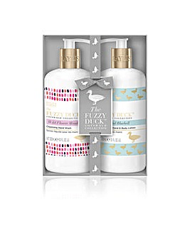Baylis & Harding The Fuzzy Duck Cotswold Floral 2 Bottle Box Set