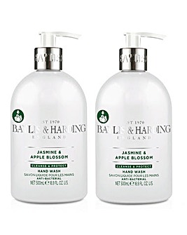 Baylis & Harding Jasmine & Apple Blossom Anti Bacterial 500ml Hand Wash DUO