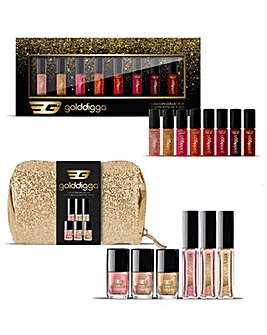 Golddigga Lip Gloss & Nail Polish Bundle