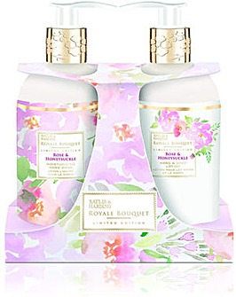 Baylis & Harding Royale Bouquet Rose & Honeysuckle 300ml 2 Bottle Set