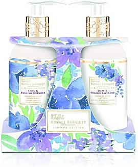 Baylis & Harding Royale Bouquet Lilac & Lavender 300ml 2 Bottle Set