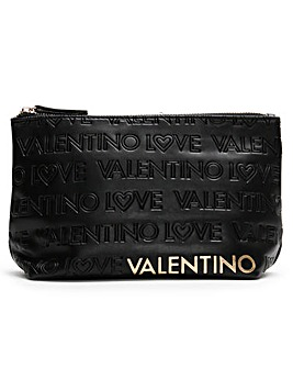 Valentino By Mario Valentino Lovely Embossed Logo Cosmetic Pouch