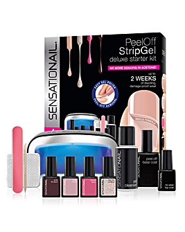 SensatioNail Peel Off Strip Gel Deluxe Starter Kit