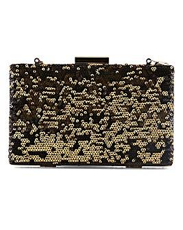 Black Reversible Gold Sequin Clutch