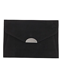 Semi Circle Hardware Black Clutch