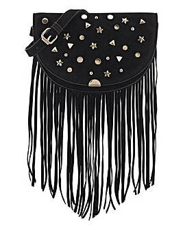 Studded Crossbody With Frindge Detail