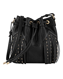 Tassel Stud detail Bucket bag