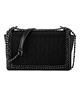 Chain Edge Croc Flapover Bag