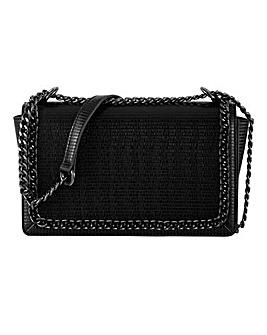 Chain Edge Croc Flapover Bag