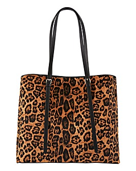 Leopard Buckle Detail Tote