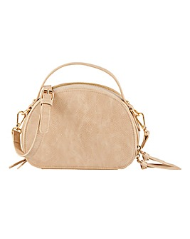 Double Zip Oval Crossbody