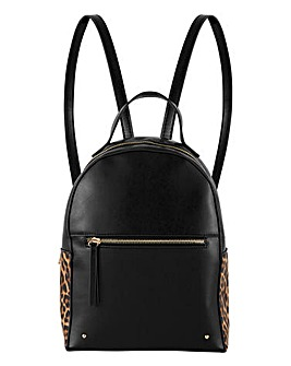 Black & Leopard Print Backpack