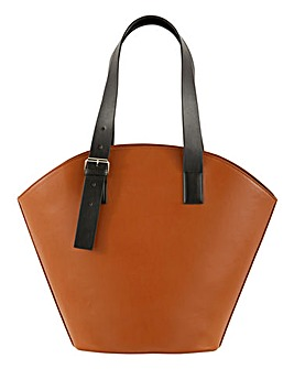 One Side Buckle Fan Tote