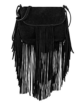 Long Tassel Suede Crossbody Bag