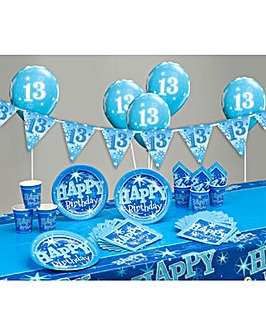 Sparkle Happy Birthday Age 13 Party Kit