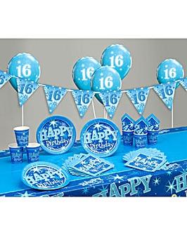 Sparkle Happy Birthday Age 16 Party Kit